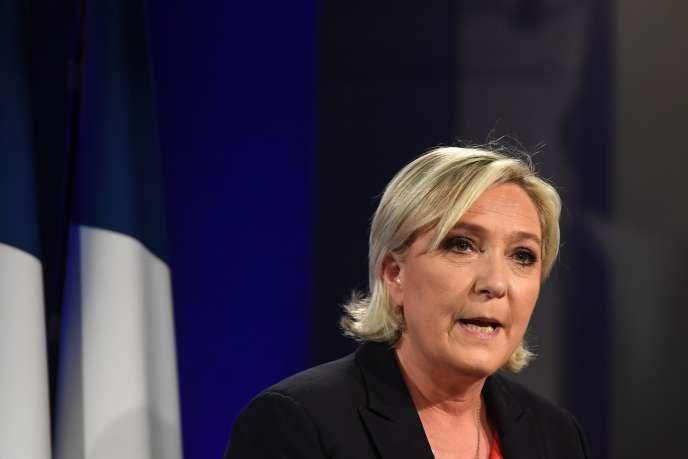 La présidente du Front national, Marine Le Pen, le 7 mai 2017.