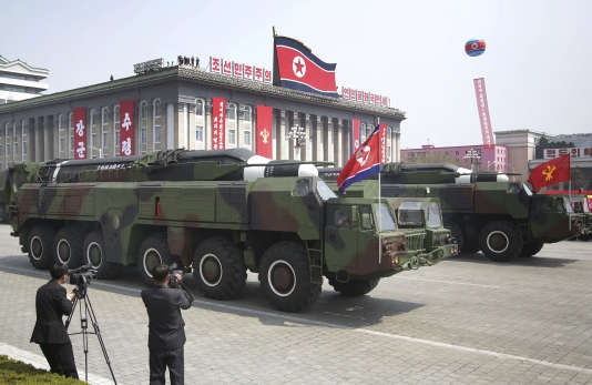 Une parade militaire le 15 avril, à Pyongyang.