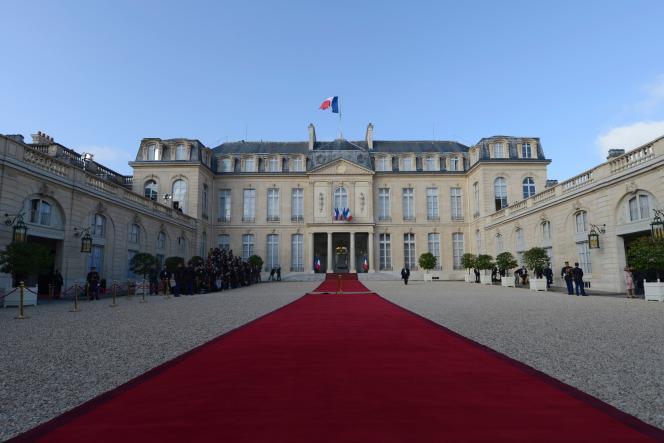 Le Palais de l'Elysée le 7 mai 2012.