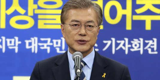 Le candidat du Parti démocrate Moon Jae-in, le 8 mai 2017.
