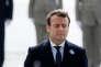 Emmanuel Macron lors des cérémonies du 8-Mai, à Paris.
