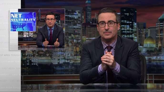 Capture d'écran de l'émission de John Oliver,« Last Week Tonight» (HBO), dimanche 7 mai.