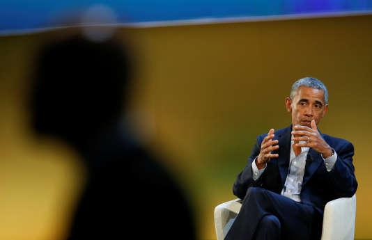Barack Obama au sommet Seeds and Chips, à Milan, le 9 mai.
