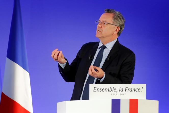 Richard Ferrand, secrétaire général, au QG du mouvement En Marche ! à Paris, le 8 mai.