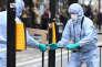Des enquêteurs de la police scientifique sur les lieux d'une attaque au couteau au centre de Londres, le 27 avril.