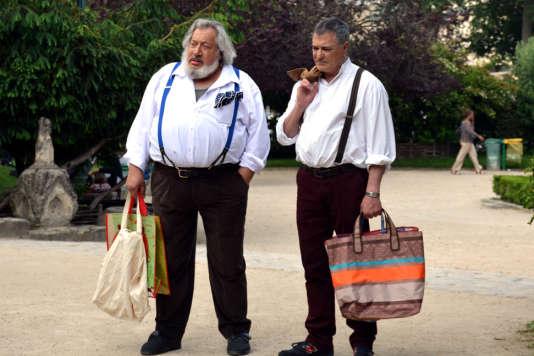 Jean-Claude Dreyfus et Jean-Marie Bigard dans le film français de Jean-François Davy,«Vive la crise !».