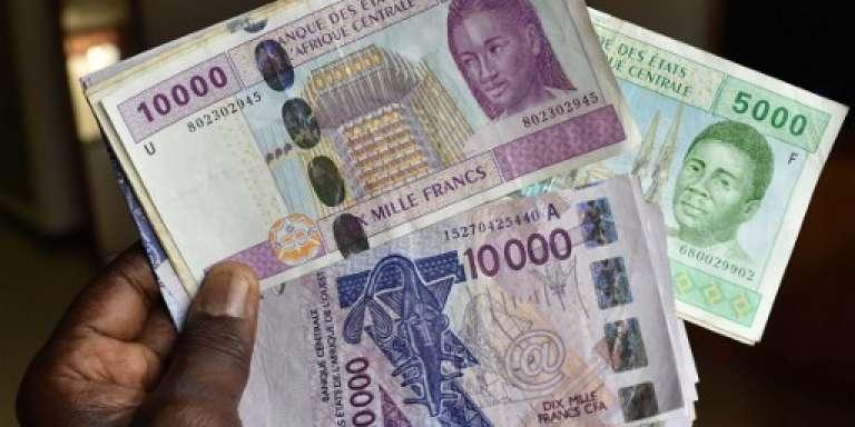 Des billets de la Banque centrale des Etats de l'Afrique de l'Ouest (BCEAO) et de la Banque des Etats de l'Afrique centrale (BEAC).