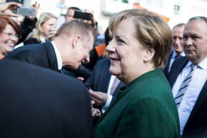 Angela Merkel le 10 mai à Haltern am See.