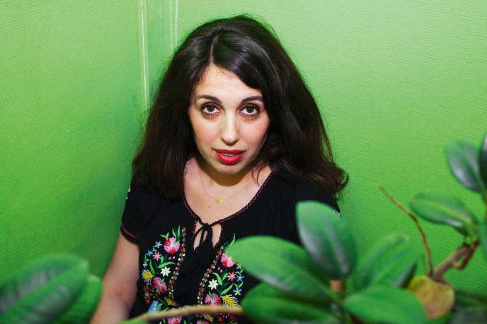 Myriam Levain le 5 mai dans les bureaux de Cheek Magazine, aux «Inrocks», à Paris.