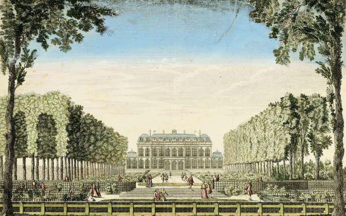 Les jardins du Palais de l'Elysée au milieu du XVIIIe siècle.