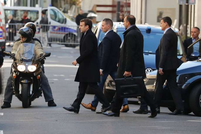 Le président élu Emmanuel Macron à Paris le 9 mai.