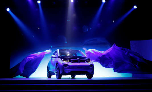La première apparition de la BMW i-3 à Pékin, en juillet 2013.