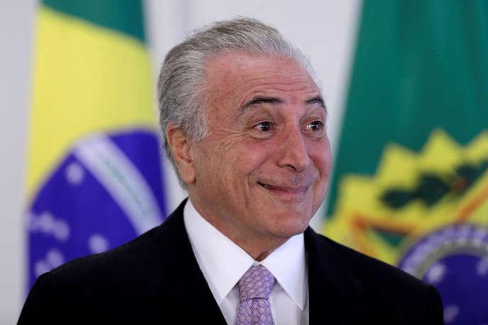 Le président brésilien Michel Temer le 10 mai à Brasilia.