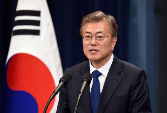 Le nouveau président sud-coréne, Moon Jae-in, à Séoul le 10 mai.