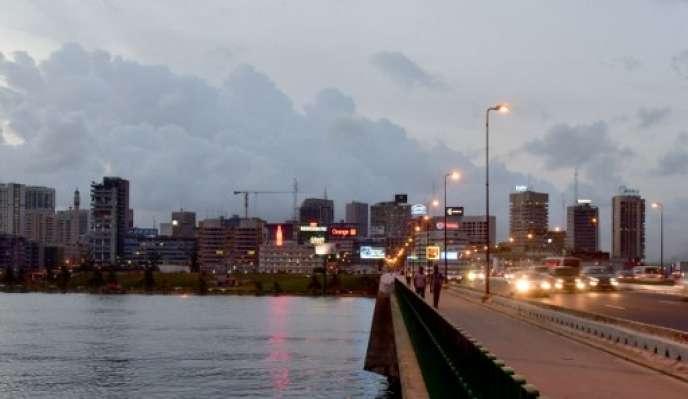 Une vue du Plateau, le quartier des affaires d'Abidjan, en mai 2016.