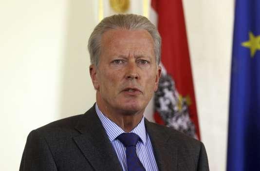 Le vice-chancelier autrichien, Reinhold Mitterlehner, lors d'une conférence de presse à Vienne, en Autriche, le 10 mai 2017.
