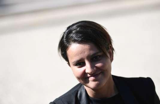 Najat Vallaud-Belkacem, à l'Elysée,le 10 mai.