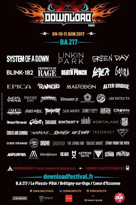 L'affiche de la seconde édition du Download festival