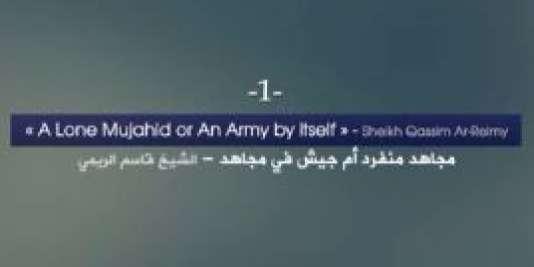 Une capture d'écran de la vidéo de propagande d'AQPA.
