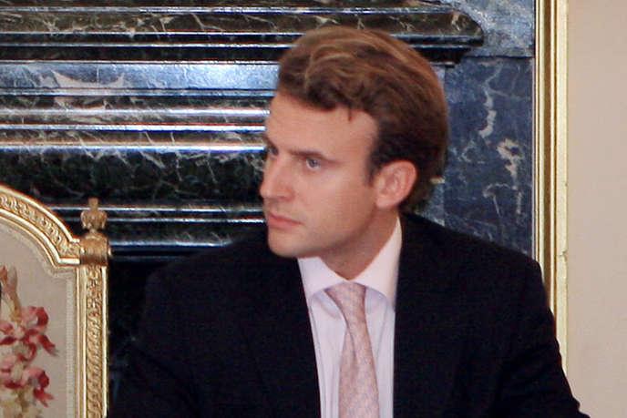 Emmanuel Macron, alors rapporteur-adjoint de la commission Attali sur la croissance, le 10 septembre 2007 au Sénat à Paris.