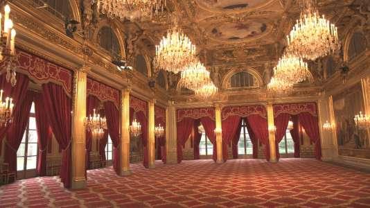 Au Palais de l'Elysée.