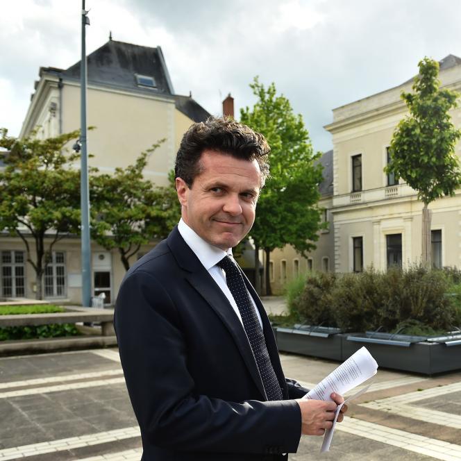 Christophe Béchu, à Angers, le 11 mai 2017.
