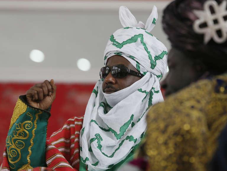 L'émir de Kano, Sanussi II, lors son couronnement, le 7 février 2015.