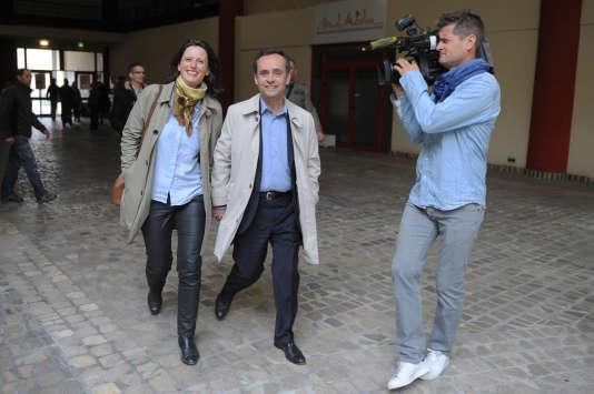 Emanuelle et Robert Ménard, le 30 mars 2014 à Béziers.