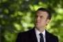 Emmanuel Macron, aux Jardins du Luxembourg, à Paris, le 10 mai.