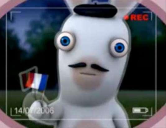 «Les Lapins crétins», un des plus grands succès à l'international du jeu vidéo français ces dix dernières années (image tirée de la série animée).