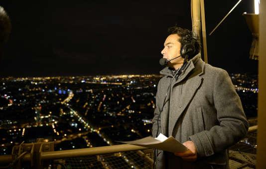 Patrick Cohen, à la tour Eiffel, fin 2013.