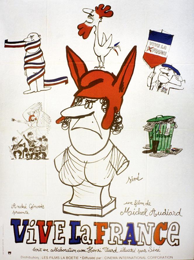 Parmi la sélection éclectique de la Semaine du cinéma de droite, organisée en avril 1976 à Paris, le film«Vive la France», de Michel Audiard.