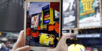 IMAGE DISTRIBUTED FOR M&M'S - To celebrate the launch of M&M'S Caramel, M&M'S brought a whole new flavor of fun to New York's Times Square by transforming the area's iconic billboards into an innovative augmented reality gaming experience, Thursday, May 11, 2017, in New York. (Photo by Jason DeCrow/Invision for M&M'S/AP Images)