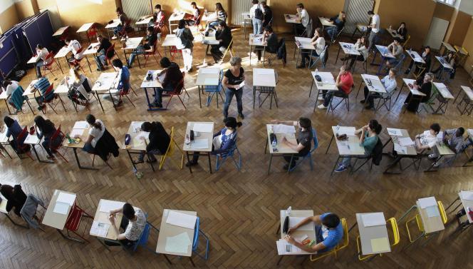 Epreuve de philosophie, le 18 juin 2012, au lycée Louis-Pasteur à Strasbourg.