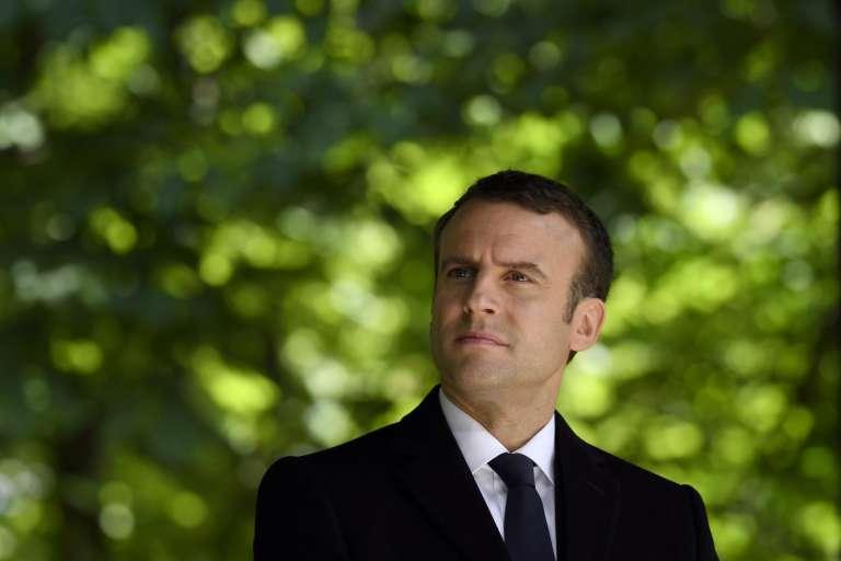 Emmanuel Macron lors de la commémoration de l'abolition de l'esclavage, à Paris, le 10 mai 2017.
