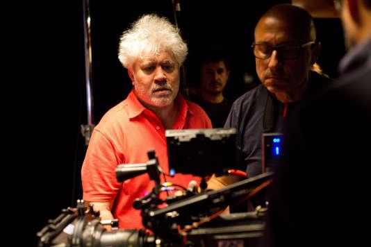Pedro Almodovar en tournage.