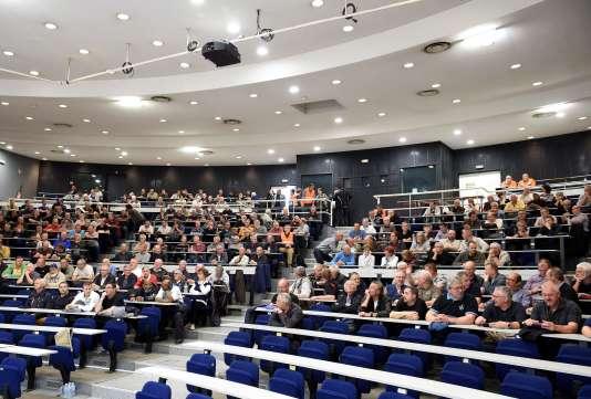 Le procès pour préjudice d'anxiété s'est tenu dans un amphithéâtre de l'université de Metz.