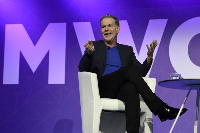 Le fondateur et PDG de Netflix, Reed Hastings, au Mobile World Congress de Barcelone, le 27 février.