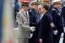 Le général Pierre de Villiers, François Hollande et Emmanuel Macron, le 8 mai, à Paris.