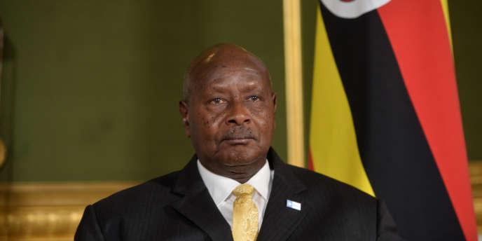 Le président ougandais Yoweri Museveni lors d'une visite officielle à Londres, le 11 mai 2017.
