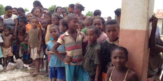 Dans le village d'Andranobory, dans le sud de Madagascar, début décembre 2016.