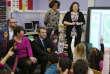 Emmanuel Macron visite une école à Lille pendant la campagne présidentielle, le 14 janvier.