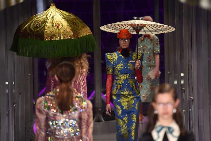 Le défilé Gucci, au cours de la fashion week de Milan, le 22 février.