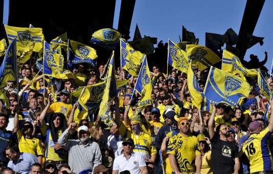 Les supporteurs de Clermont lors du match face à Leinster.