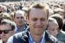 L'opposant Alexeï Navalny a participé à une manifestation à Moscou, le 14 mai 2017. Plus de 10 000 personnes ont protesté contre un plan controversé de destruction d'immeubles de l'ère soviétique.
