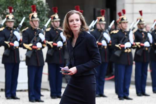 Nathalie Kosciusko-Morizet à l'Elysée, le jour de la passation des pouvoirs entre François Hollande et Emmanuel Macron, 14 mai.