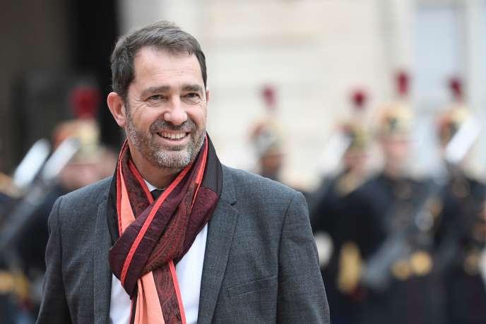 Christophe Castaner, au Palais de l'Elysée, dimanche 14 mai.