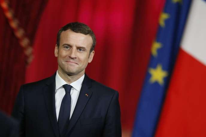 Emmanuel Macron, à Paris, le 14 mai.