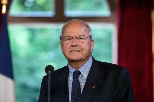 Marc Ladreit de Lacharrière (ici, le 10 juin 2016) a passé dix heures, vendredi 12mai,dans les locaux du pôle financier du tribunal de grande instance parisien.