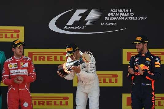 Le podium du Grand Prix de Barcelone, le 14 mai 2017.